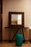 Mirror corner. In living room  interior Stock Photography