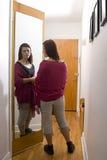 A mirror in the corridor Stock Photo
