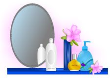 Mirror and cosmetics, cdr vector Stock Photos
