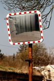 Mirror at the crossroads stock photo