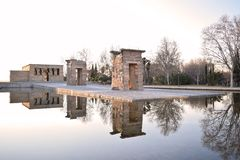 The mirror of Debod stock image