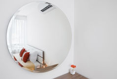 Mirror decorated in bedroom Stock Images