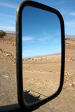 Mirror in the desert Royalty Free Stock Photography