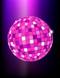 Mirror disco ball. Shiny disco mirror ball with reflections Royalty Free Stock Photo