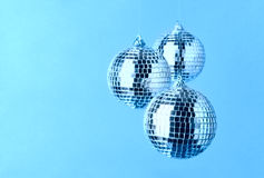 Mirror disco balls decorations Royalty Free Stock Images