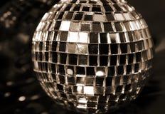 Mirror Disco globe - macro & sepia Royalty Free Stock Photo
