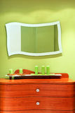 Mirror and drawers Royalty Free Stock Photos