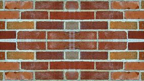 Mirror effect on a brick wall royalty free stock image