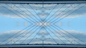 Mirror effect of a bridge vector illustration