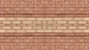 Mirror effect on a light red and dark red brick wall. Can be used as background or wallpaper and graphic for website design or for other possibilities or to royalty free stock photo