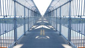 Mirror effect on a overpass royalty free illustration