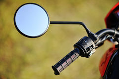 Mirror of enduro motorcycle Stock Images