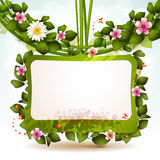 Mirror with flowers Royalty Free Stock Photo