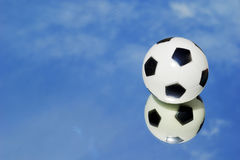 Mirror football sky Stock Image