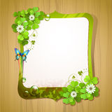 Mirror frame with clover Stock Photos