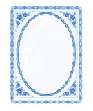Mirror frame faience  vector without gradients Stock Photography