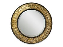 Mirror frame isolated from background royalty free stock image