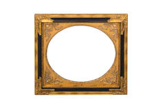 Mirror frame isolated on white Stock Photos
