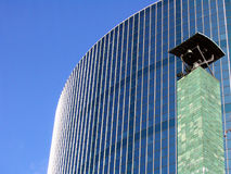 Mirror of glass. A modern building build with a lot of glass Royalty Free Stock Images