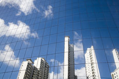 Mirror glass wall Stock Images