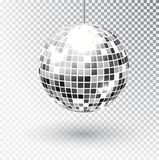 Mirror glitter disco ball vector illustration. Night Club party light element. Bright mirror silver ball design for. Disco dance club. Vector vector illustration