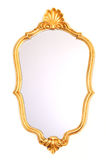 Mirror gold frame Royalty Free Stock Images