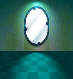 Mirror in a green room Royalty Free Stock Image