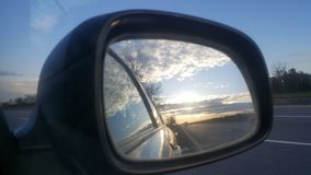 Side mirror stock photography
