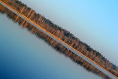 Mirror horizon diagonal royalty free stock photos