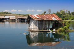 Mirror hut. On barge thailand Stock Photos