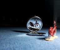 Mirror image. Of bicycle Royalty Free Stock Images