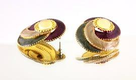 Mirror Image Earrings Royalty Free Stock Photo