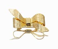 Mirror Image Gold Ribbon Bow Royalty Free Stock Photo