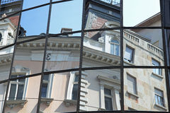Mirror image. Of the houses at the heart of Beograd Stock Images