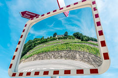 Mirror image of Lavaux Vineyards. Royalty Free Stock Photography