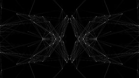 Mirror image pattern moving in a sphere stock footage