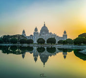 Mirror Image. The reflection of Victoria Memorial Hall Stock Image