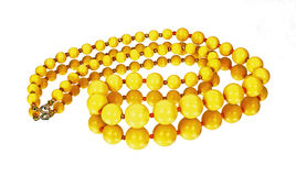 Mirror Image of Yellow Necklace Royalty Free Stock Photography