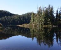 Mirror Lake. Lake on Vancouver Island, Canada royalty free stock photos