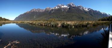 Mirror Lake. South Island, New Zealand Royalty Free Stock Photos
