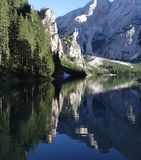 Mirror Lake. The rocks mountains mirrored by a quite pure lake Royalty Free Stock Photography