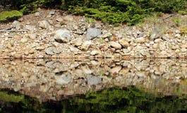 Mirror lake closeup Royalty Free Stock Images