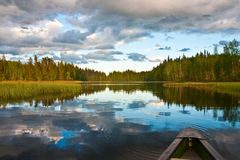 Mirror on the lake Stock Photo