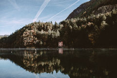 Mirror lake in italy Stock Image