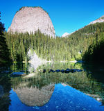 Mirror lake in Lake Louise area Royalty Free Stock Images