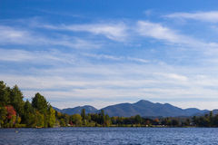 Mirror lake in Lake Placid, New York. Stock Image