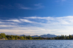 Mirror lake in Lake Placid, New York. Royalty Free Stock Photography