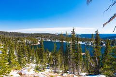 Mirror Lake in Medicine Bow National Forest, Wyoming royalty free stock image