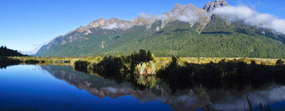 Mirror Lake in New Zealand Royalty Free Stock Photo