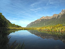 MIRROR LAKE , NEW ZEALAND Royalty Free Stock Photo